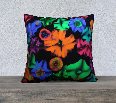 "Cosmic Bouquet Pillow 22""x22"""