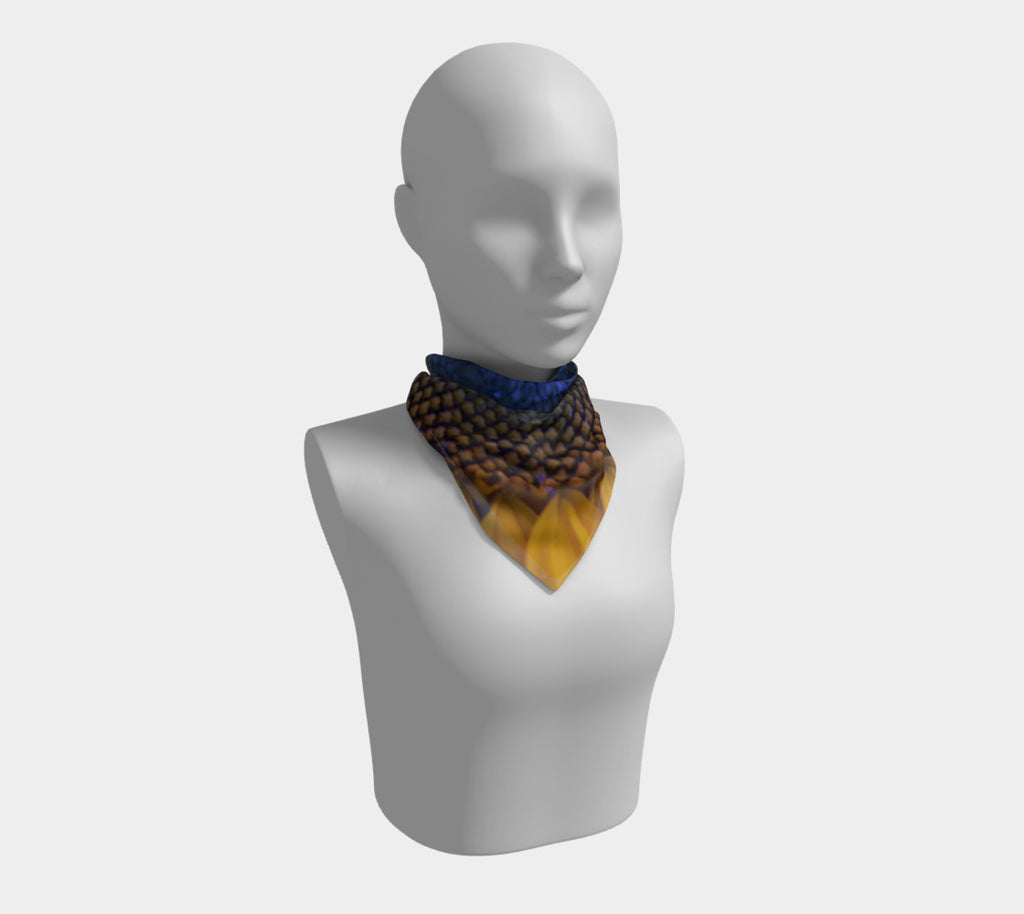 BLUE SUNFLOWER Square Scarf