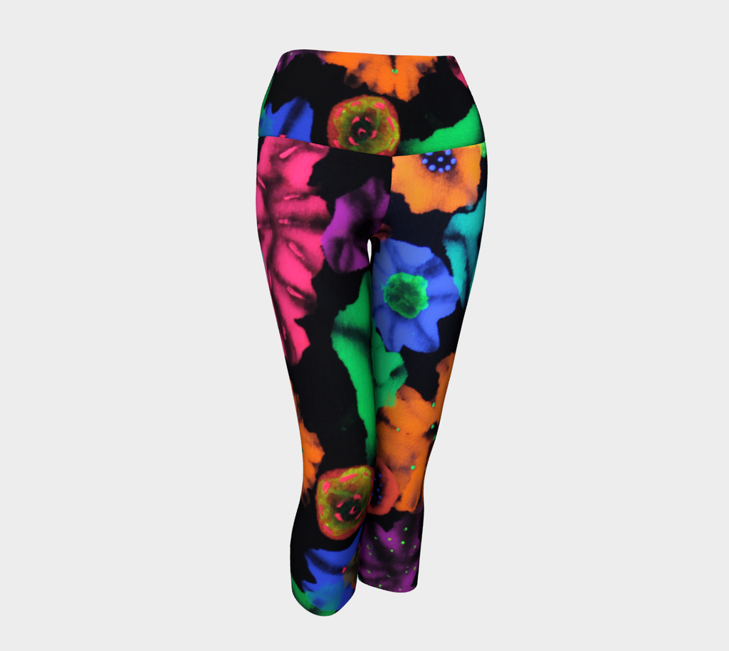 COSMIC BOUQUET - Yoga - Capris & Leggings