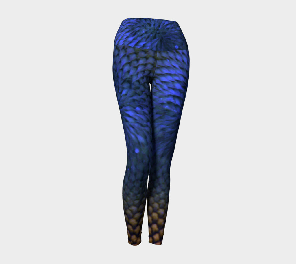 BLUE SUNFLOWER Yoga Leggings & Capris
