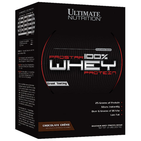 Ultimate Nutrition, Prostar 100% Whey Protein (Chocolate), 907g (2 lbs)