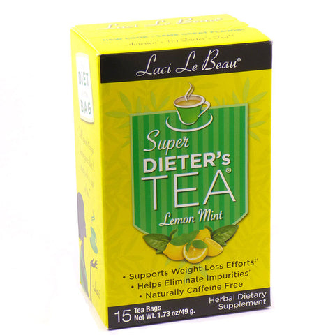 Natrol, Laci Le Beau, Super Dieter's Tea (Lemon Mint Flavor), 15 Tea Bags