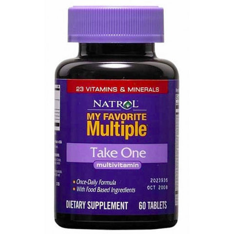 Natrol, My Favorite Multiple, Take One, Multivitamin, 60 Tablets