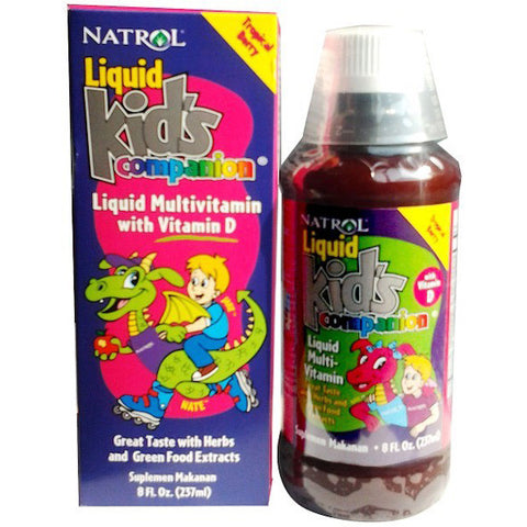 Natrol, Liquid Kids Companion, Liquid Multivitamin, 237ml (8oz)