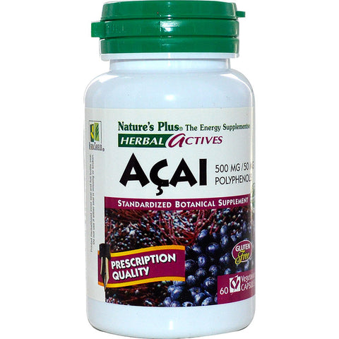 Nature's Plus, Acai, 500 mg, 60 Veggie Caps