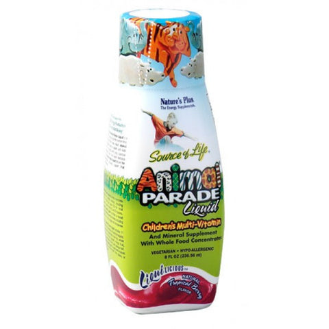 Nature's Plus, Animal Parade Liquid, Children's Multi-Vitamin (Tropical Berry Flavor),  236.56 ml (8oz)
