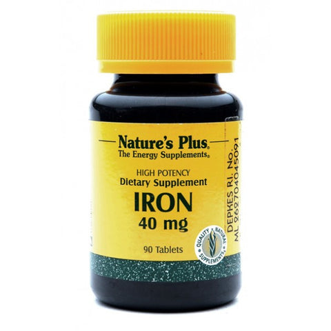 Nature's Plus, Iron, 40 mg, 90 Tablets