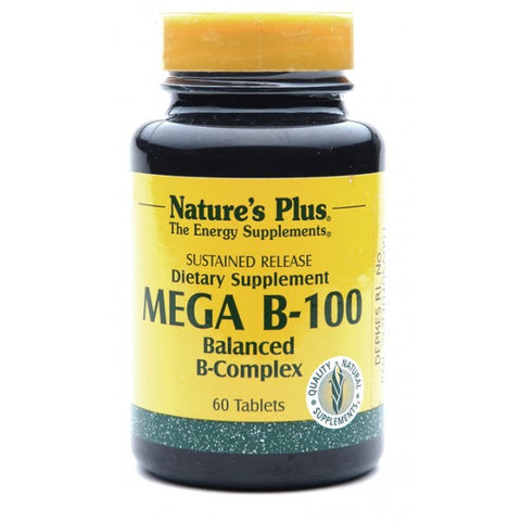 Nature's Plus, Mega B-100, Sustained Release, 60 Tablets
