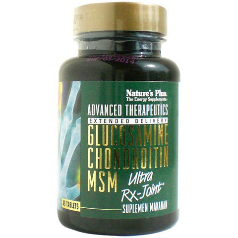 Nature's Plus, Glucosamine Chondroitin MSM, Ultra Rx-Joint, 45 Tablets