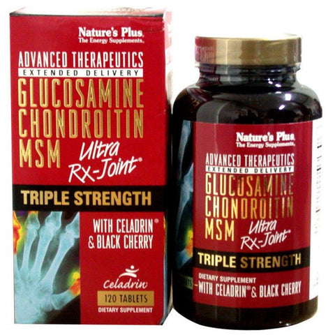 Nature's Plus, Glucosamine Chondroitin MSM, Ultra Rx-Joint, Triple Strength, 120 Tablets