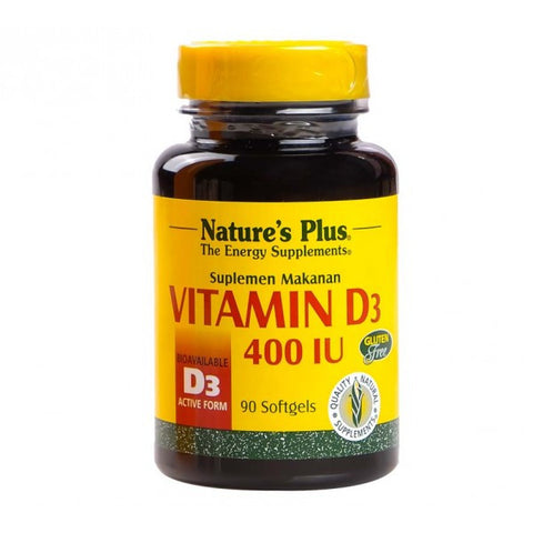 Nature's Plus, Vitamin D3, 400 IU, 90 Softgels