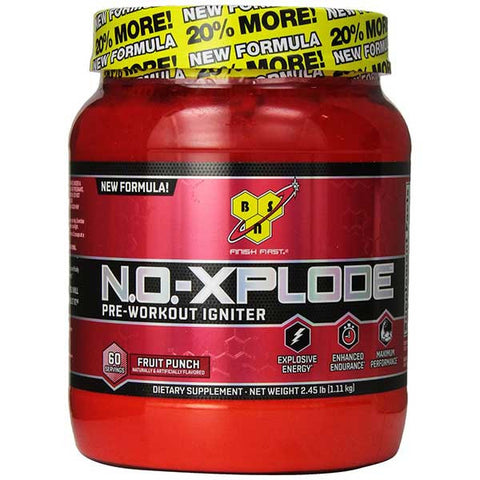 BSN, No-Xplode 2.0 (Fruit Punch), 60 Servings
