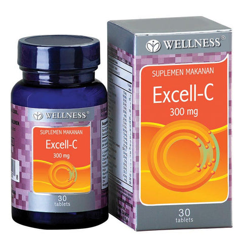 Wellness, Excell - C, 300mg, 30 Tabs