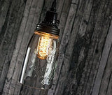 Quart Open Bottom Mason Jar Pendant Lamp - Rustic Brown