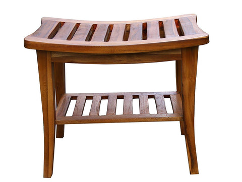 Teak Indoor Outdoor Patio Garden or Shower Waterproof Bench