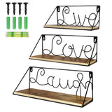 Floating Shelves Live Love Laugh Rustic Metal Word