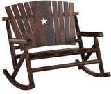 Char-Log Double Rocker with Texas Star