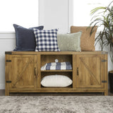 Rustic Country Style Console Cabinet with Barnwood Side Doors