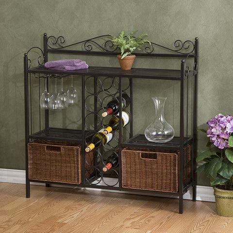 Celtic Baker's Rack with Wine Storage