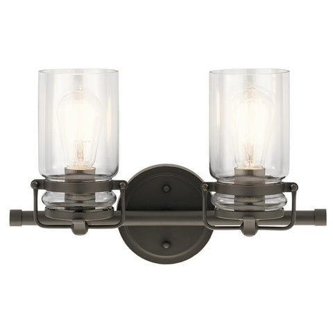 Rustic 2 Light Olde Bronze Bath Vanity Light