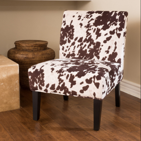Cowhide Accent Chair