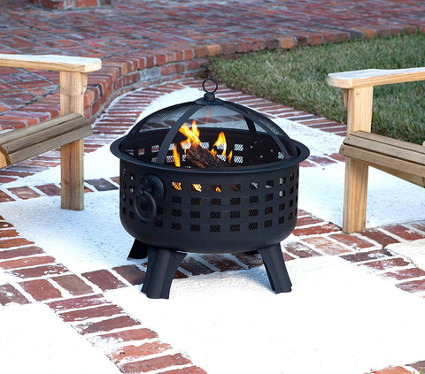 Rustic Screened Firepit