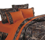 Mossy Oak Camo Comforter WITH matching Sheet Set, King Size
