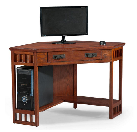 Corner Computer Writing Desk Mission Style