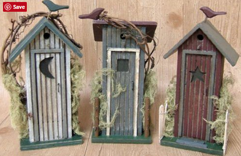 Rustic Outhouse Country Log Cabin Style Decor