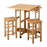 Breakfast Bar Table & Stools Space Saver