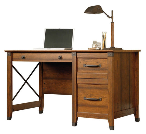 Three Drawer Cherry Wood Writing Desk