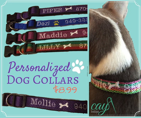 Dog Collars Personalized & Embroidered