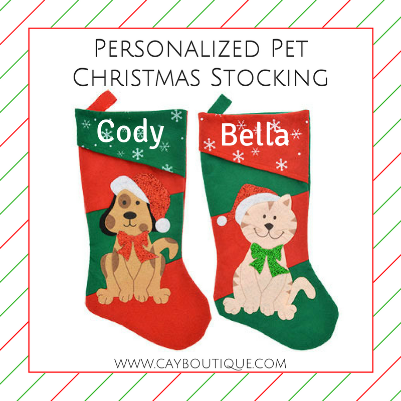Personalized Pet Christmas Stocking 16.5""