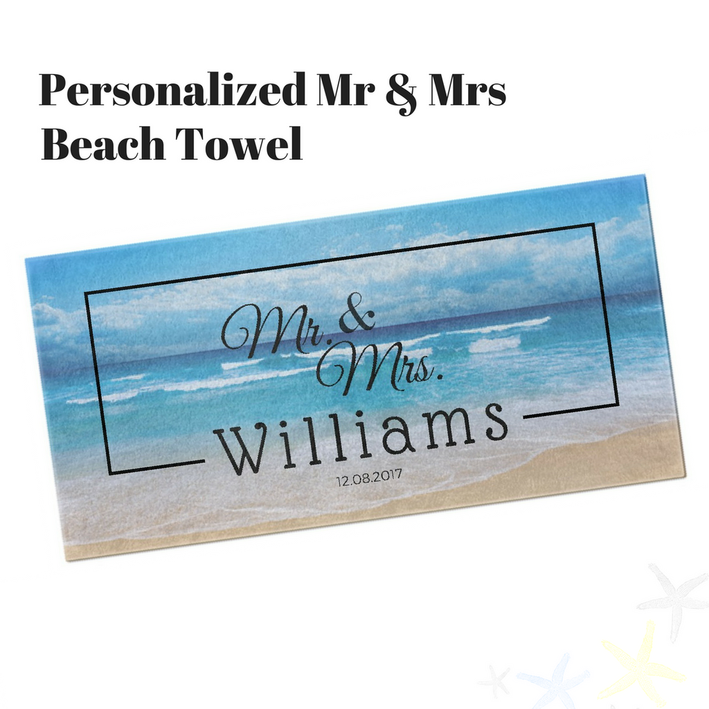 Personalized Mr. & Mrs. Beach Towel