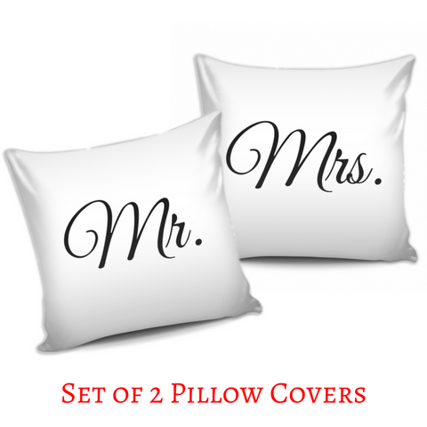 Mr. & Mrs. Pillow Covers