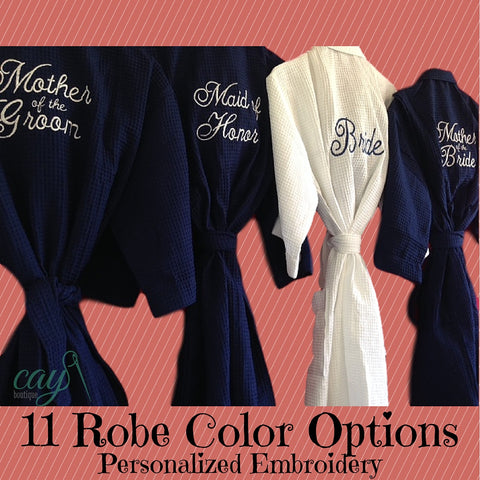 Monogrammed Bridesmaid Bathrobes