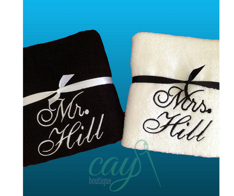 Set of 2 Personalized Bath/Beach Towels