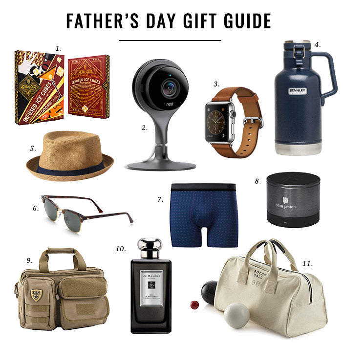 Jillian Harris Father's Day Gift Guide Post with Logiix Blue Piston Speaker