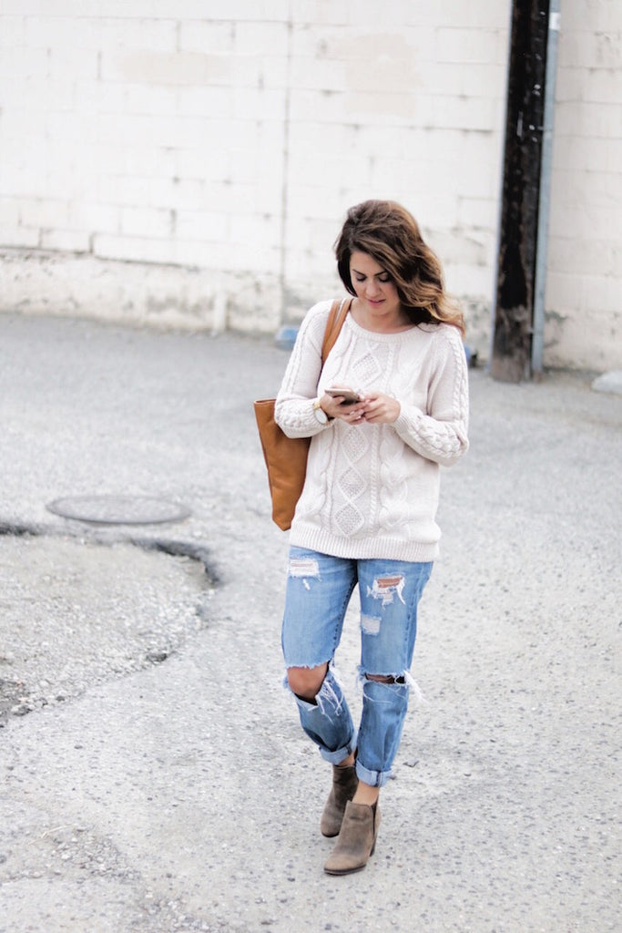 Jillian Harris with a Logiix iPhone case