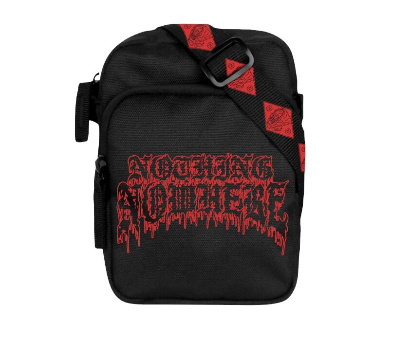 34a3b5a7daa Red Death Logo Sidebag - nothing,nowhere. official merch