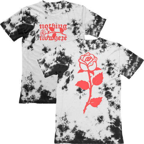 custom dyed rose tee