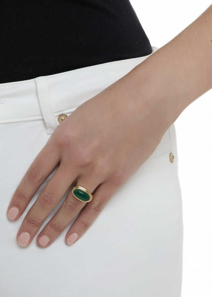 Green Onyx Solo Ring