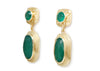 GREEN ONYX DETAIL EARRINGS