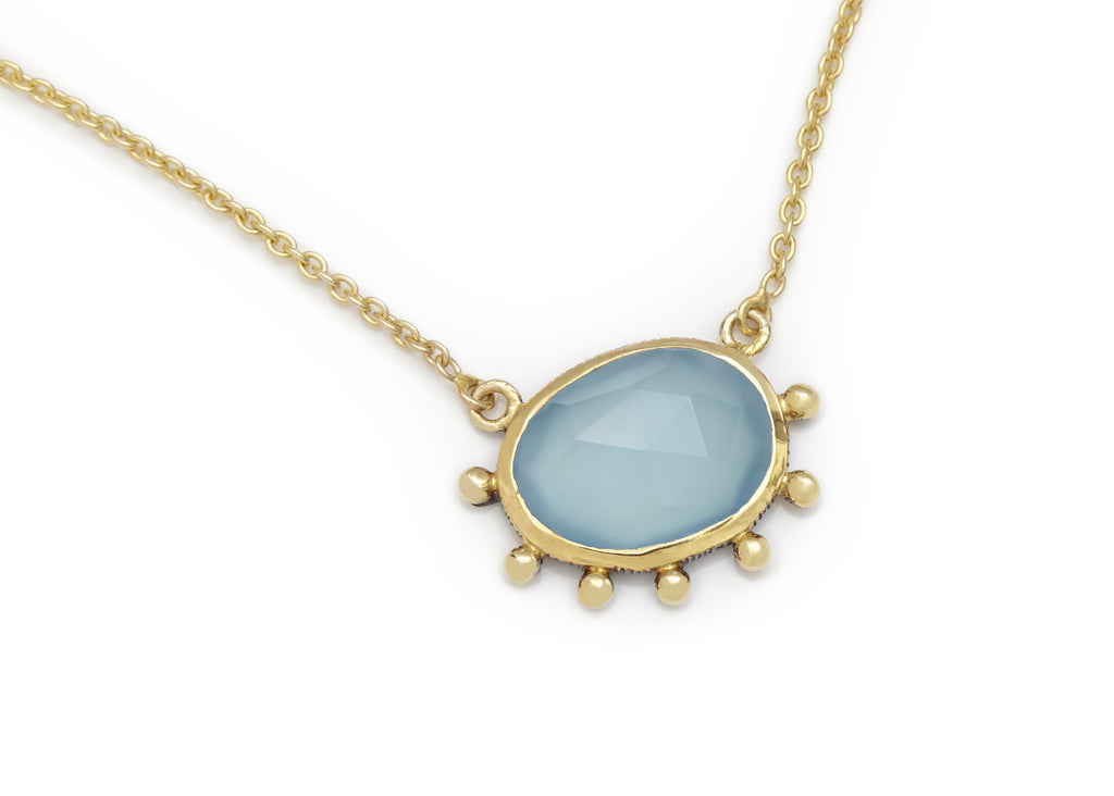 Blue Calci Necklace