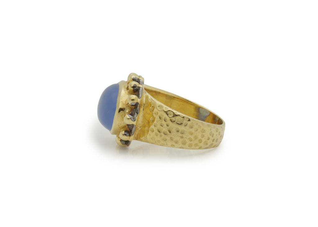 Blue Calci Signature Ring