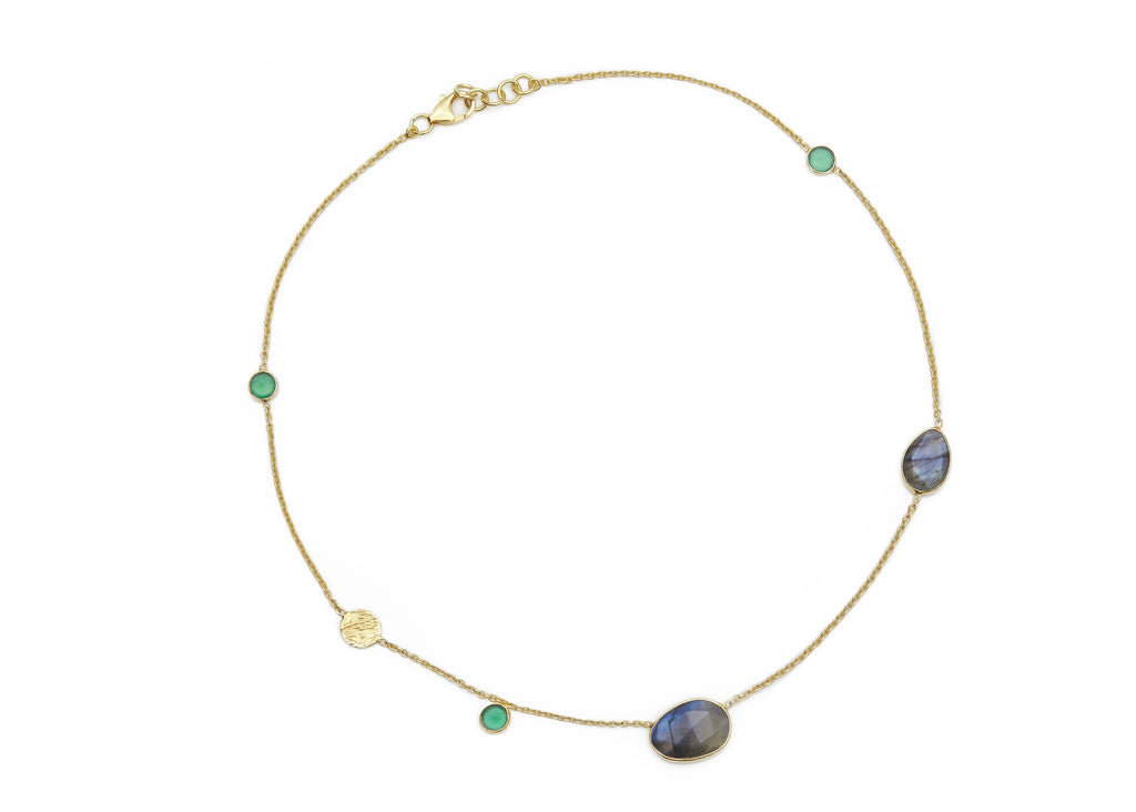 Labradorite and Green Onyx Necklace