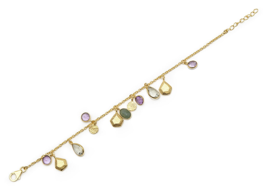 Purple and Green Amethyst Bracelet