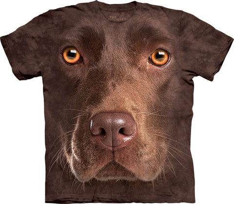 The Mountain T-Shirt - Chocolate Lab Face (Adult Unisex)