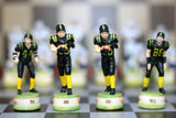 Resin Football Themed Chess Set