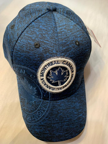 Blue Montreal Canada Maple Leaf Cap